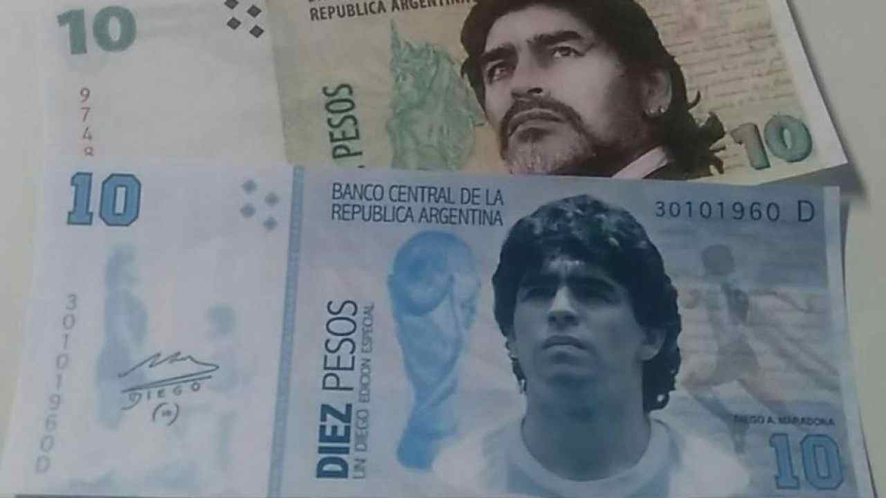 maradona 10 pesos